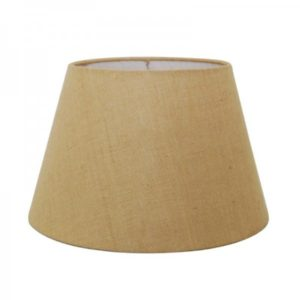 "Called a ""British Empire"", this shape is a shorter, wider version of the classic empire lampshade. Our hardback stock includes burlap, white, beige and gold linen as well as black parchment with gold lining. We also have soft-lined British Empires in white, eggshell or beige linen. They can also be custom ordered in many fabrics, colors and sizes. A nice transition from traditional to a more modern look. Shown in burlap with a rolled edge (no trim). Please remember to bring your lamp for the best fit."