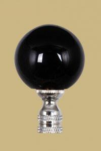 Black Glass Ball on Nickel Base