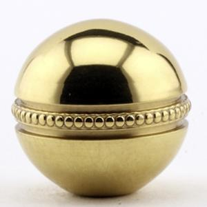 Polished Brass Beaded Ball