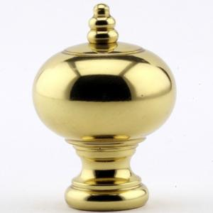 Polished Brass Ball with Beaded Crown