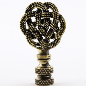 Antique Brass Woven Knot