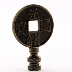 Antique Brass Chinese Coin