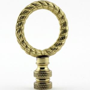 Polished Brass Rope Ring