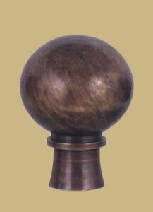 Antique Solid Brass Ball, two sizes