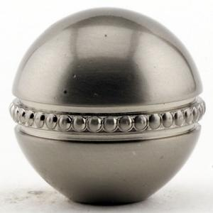 Brushed Nickel Beaded Ball