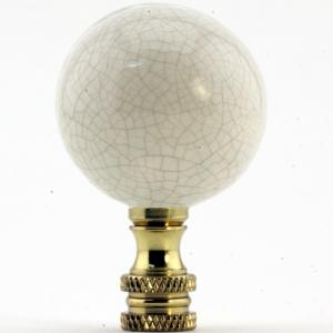 Porcelain Sphere- Ivory Crackle