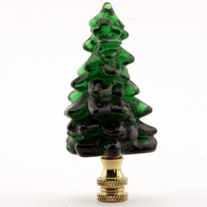 Evergreen Tree with Brass Base