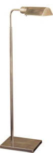 "Adjustable Pharmacy Antique Nickel, 34-45"" tall"