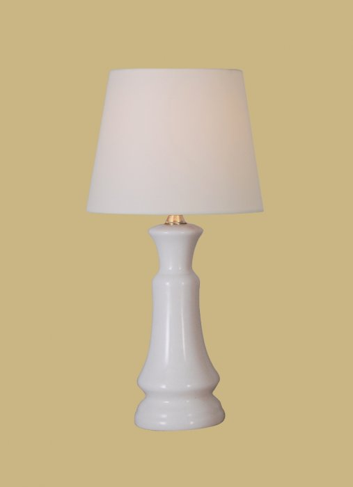 Table lamps the lamp shade versatile small white porcelain 15 tall with 7 white linen drum shade aloadofball Images